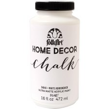 FolkArt Home Decor Chalk Paint 16oz- White Adirondack