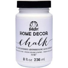 FolkArt Home Decor Chalk Paint 8 oz- White Adirondack