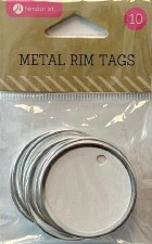 Metal Rim Tags, 10ct