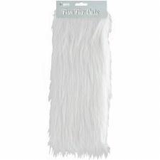 "Fun Fur Cuts, 9""x12""- White Long Pile"