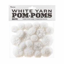 Yarn Pom-Poms- White