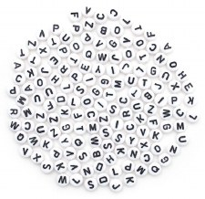 7mm Alphabet Beads