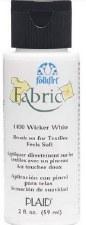 FolkArt 2 Oz. Fabric Paint- Wicker White