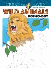 Creative Haven Dot-to-Dot Adult Coloring Book- Wild Animals