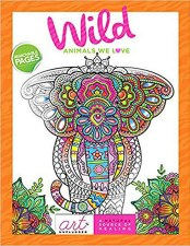 Art Unplugged Adult Coloring Book- Wild Animals