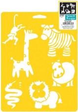 Stencil Mania 7x10 Stencil- Wild Animals