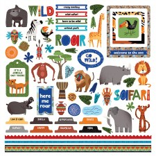 A Walk on the Wild Side Sticker Sheet