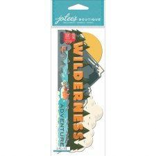 Jolee's Outdoors Dimensional Title Stickers- Wilderness