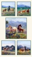 Animals Fabric Panel- Wildflower Trails