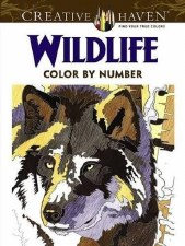 Creative Haven Color-by-Number Adult Coloring Book- Wildlife