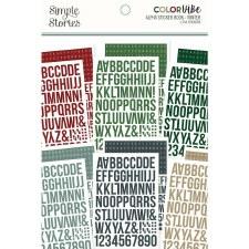 Color Vibe Alphabet Sticker Book- Winter