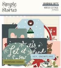 Winter Cottage Die Cuts- Journal Bits