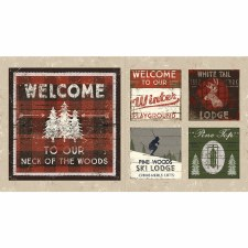 Christmas & Winter Fabric Panel- Winter Playground