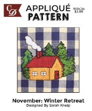 Applique Pattern- Winter Retreat