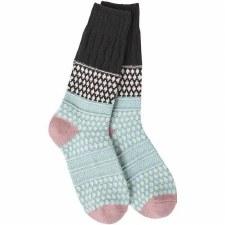 Weekend Textured Crew Socks- Winter Sky