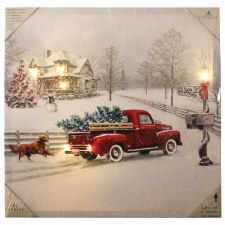 Christmas Lighted Canvas- Winter Truck