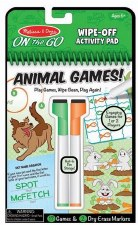 Melissa & Doug On The Go Wipe Off Activity Pad- Animal Games