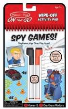 Melissa & Doug On The Go Wipe Off Activity Pad- Spy Games