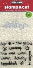 Hero Arts Stamp & Cut Set- Wishes