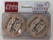Car Coasters, 2pk- Wishin'  I Was Fishin'