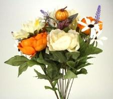 Gather by Nicole Floral Bush- Peony & Sunflowers, Orange & Ivory