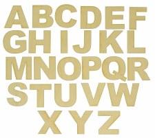 Wood Alphabet - 54pcs