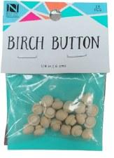 """Birch Buttons, 1/4""""- 23pc"""