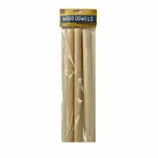 """Wood Dowels, .75"""" x 12""""- 3pk"""