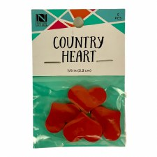 """Wood Country Heart, 7/8""""- 4pk"""