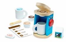 Melissa & Doug Food/Kitchen Play Set- Wooden Brew & Serve Coffee Set