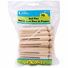 Woodsies Doll Pins, 30ct