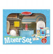 Melissa & Doug Wooden Toy Set- Make-A-Cake Mixer Set