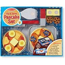 Melissa & Doug Food/Kitchen Play Set- Wooden Pancake Set