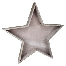 Wood Star Tray- Large, 18""