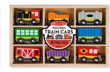 Melissa & Doug Wooden Toy Set- Train Cars Set