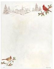 Holiday Letterhead- Winter Cardinals
