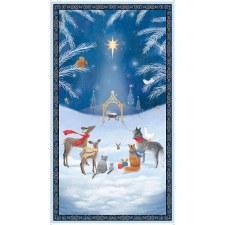 Christmas & Winter Fabric Panel- Woodland Dream