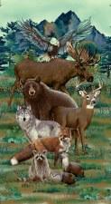 Nature & Wildlife Fabic Panel- Woodland Wonders