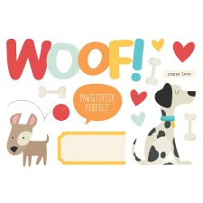 Simple Pages: Page Pieces Die Cuts- Woof
