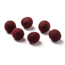 """Wool Bead 5/8""""- Burgundy"""