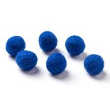 "Wool Bead 5/8""- Cobalt"