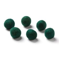 "Wool Bead 5/8""- Evergreen"