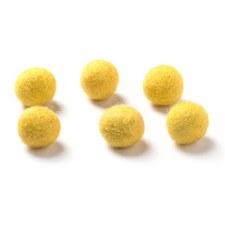 "Wool Bead 5/8""- Mustard"