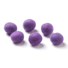 "Wool Bead 5/8""- Purple"