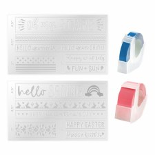 We R Memory Keepers Label Embossing Folders- Spring/Summer