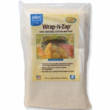 "Wrap-N-Zap Natural Cotton Batting, 36"" x 45"""