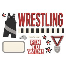 Simple Pages: Page Pieces Die Cuts- Wrestling
