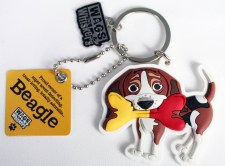 Wags & Whiskers Dog Keychain- Beagle