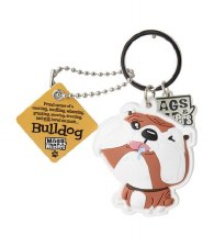 Wags & Whiskers Dog Keychain- Bulldog