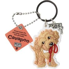 Wags & Whiskers Dog Keychain- Cavapoo